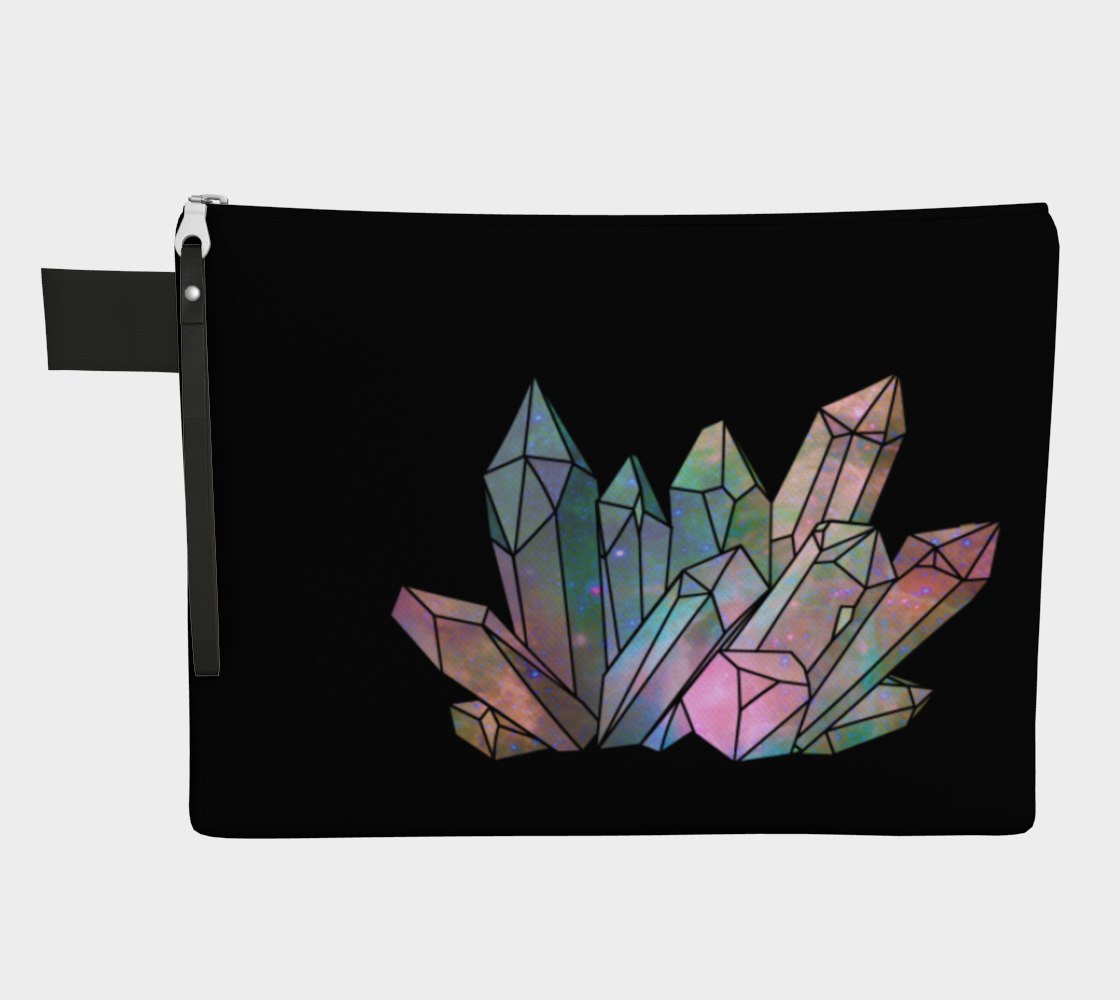 Cosmic Crystals Unicorn Rainbow Aura Zippered Carry All  Bright AOW preview