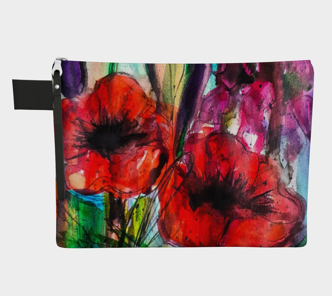 Vibrant Garden Zipper Carry-All preview