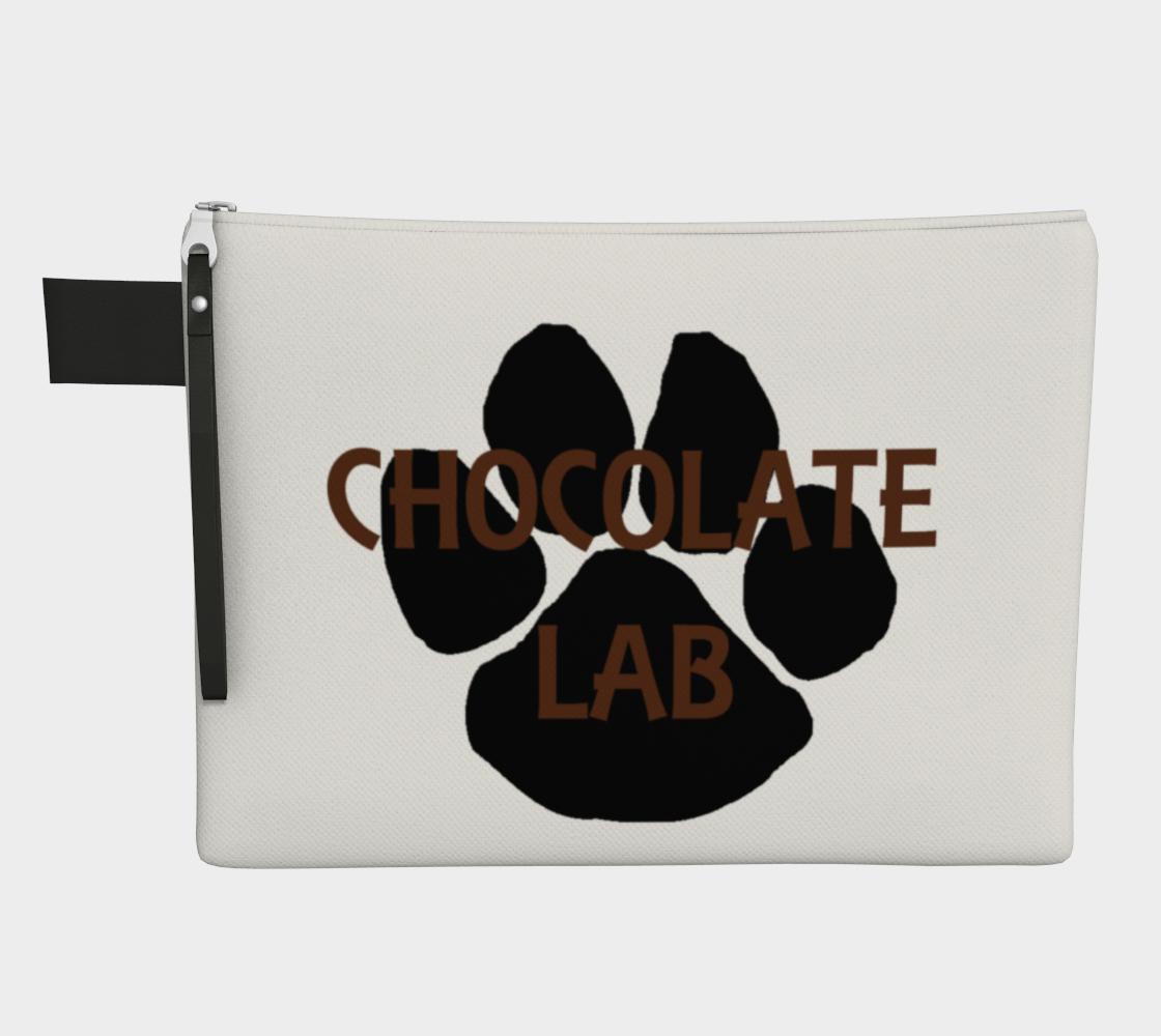 Labrador Retriever chocolate name paw zipper carry all preview