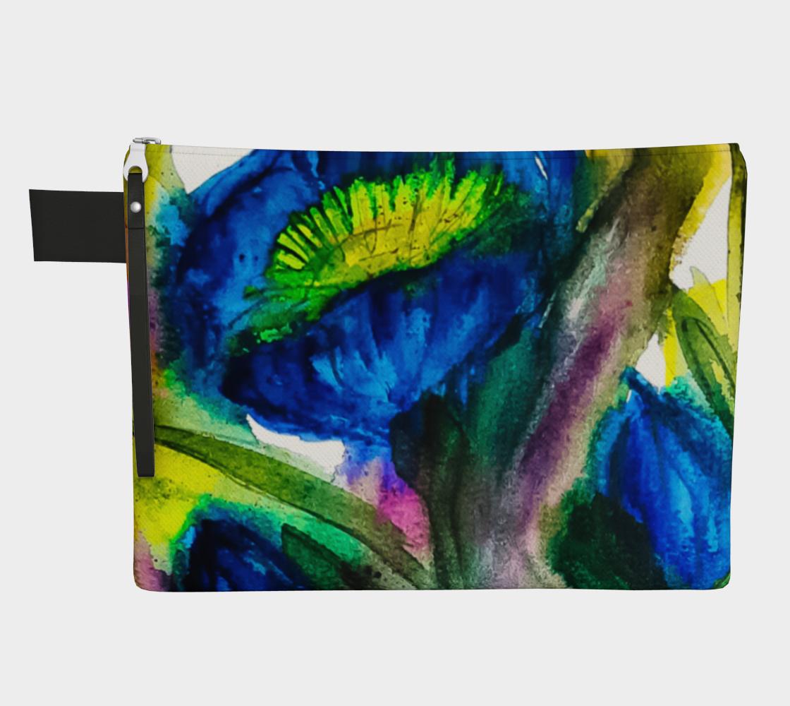 Blue Garden Zipper Carry-All preview