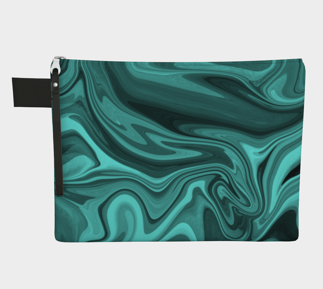Teal Twirl Zipper Carry-All preview