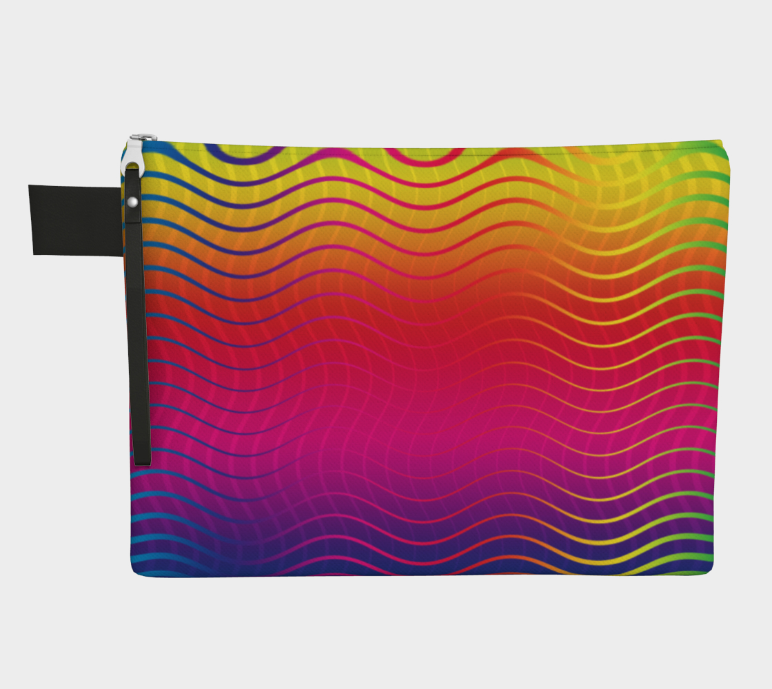 Rippled Rainbow Waves Zipper Carry-All preview