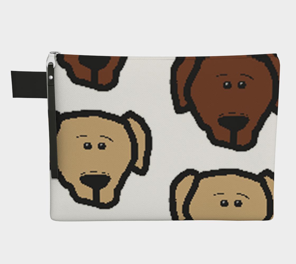 Labrador Retriever all 3 colors cartoon heads zipper carry-all preview