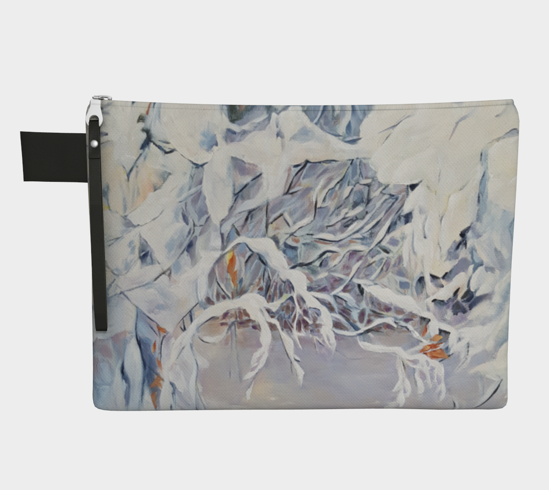 Snowy Boughs Zippered Carry All preview