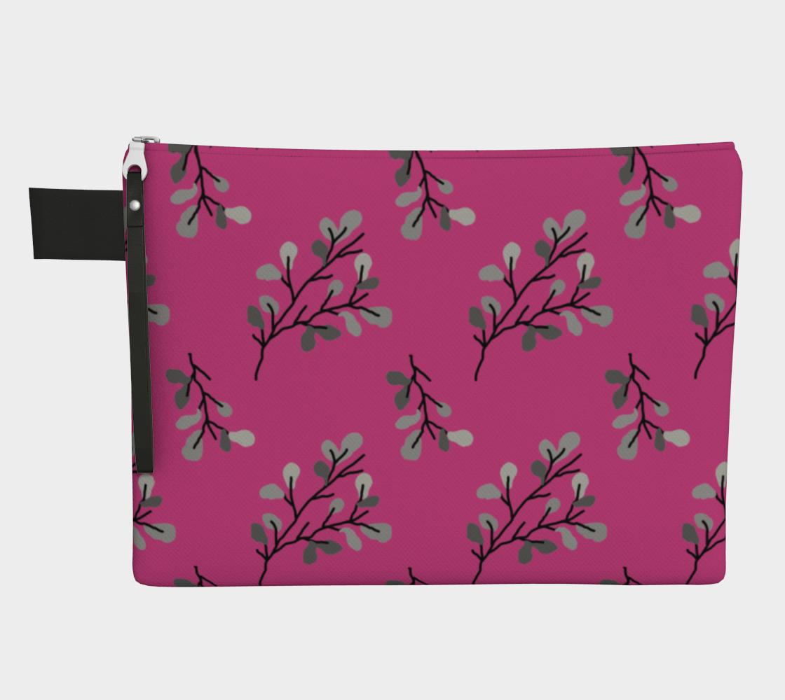 Grey Leaf Stem on Pink preview