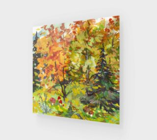Watercolor Vivid Autumn Landscape preview