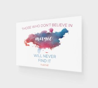 Roald Dahl 'believe in magic' quote - wall art preview