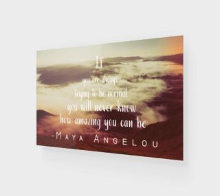 Maya Angelou 'amazing' quote - wall art preview