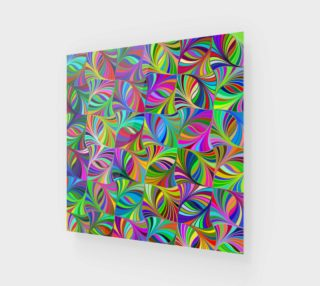 Circular Colorful Geometric Abstract Wood Print preview