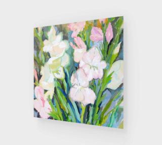 Gladiolus. Sword Lily. Watercolor Flowers. Bouquet. preview