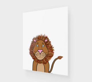 "Leo the Lion Canvas Print - 16""x20"" preview"