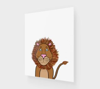 """Leo the Lion Wood Print - 16""""x20"""" preview"""