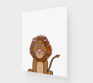 "Leo the Lion Canvas Print - 11""x14"" preview"