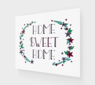 "Home Sweet Home Canvas Print - 24""x20"" preview"
