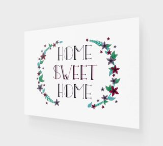Home Sweet Home Canvas Print - 4:3 preview