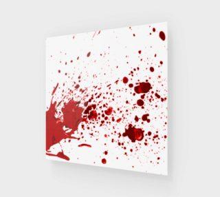 Aperçu de Blood Splatter One Wall Art