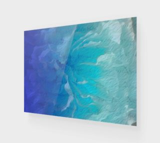 Blue I So Hope Canvas Print Landscape preview