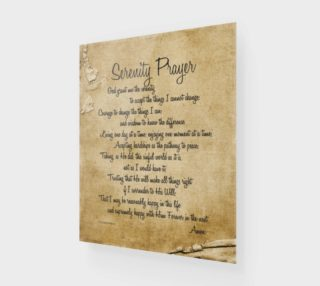 the full Serenity Prayer - 16x20 preview