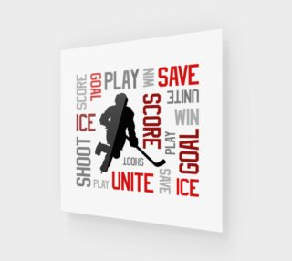 For the Love of Hockey - Red Print preview
