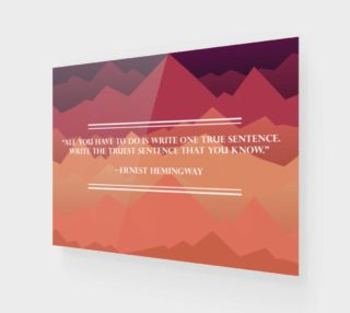 Hemingway Quote Canvas Print preview