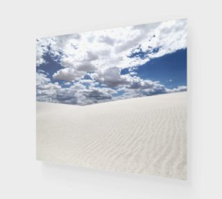 White Sands, Blue Skies - Acrylic Print preview