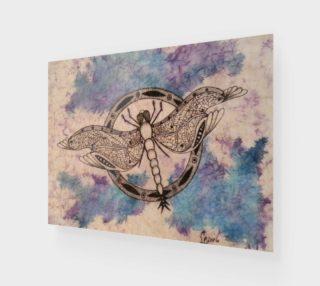 Aperçu de Watercolor Batik Dragonfly Print