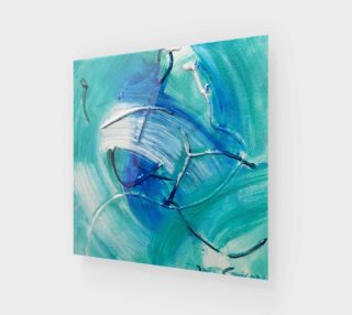 Sea Green Abstract Painting by Janet Gervers preview