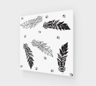 Black & White Feather Wall Art preview