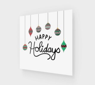 Happy Holidays Print preview
