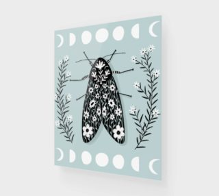 Moon Moth Art Print 16 x 20 preview