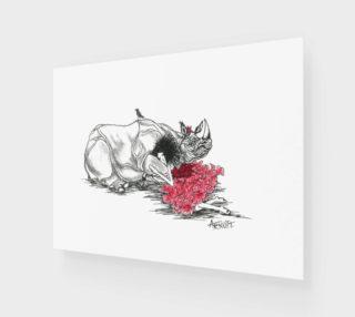 Aperçu de Red Rhino print