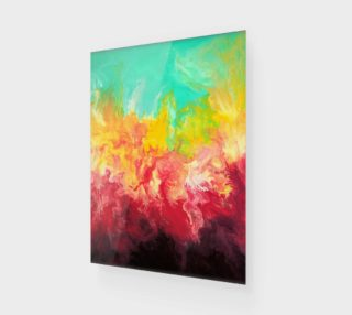 Rainbow - Fluid Abstract Art Print preview