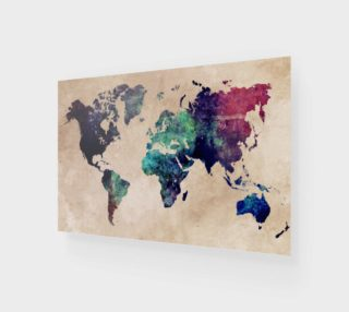 World Map 1 art print preview