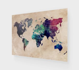 World Map 1 poster  preview
