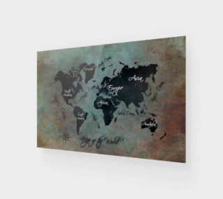 Map of the World art print preview