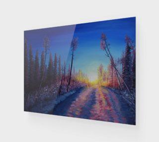 Aperçu de Crimson Sunset Snow Trail