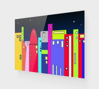 "Space City Wall Art 10"" x 7.5"" preview"