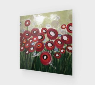 Aperçu de Whimsical Poppy Art Print