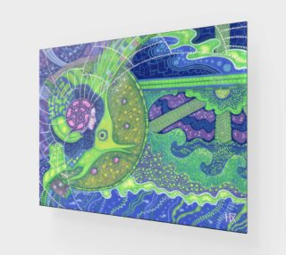 Aperçu de Dream of the full moon, surreal art, mermaid fantasy, underwater, blue and green colors