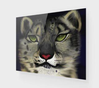 "Aperçu de Snow Leopard Wall Art 20"" x 16"""
