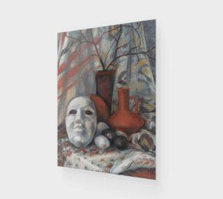 "Aperçu de ""Still life with the mask in earth tones"""