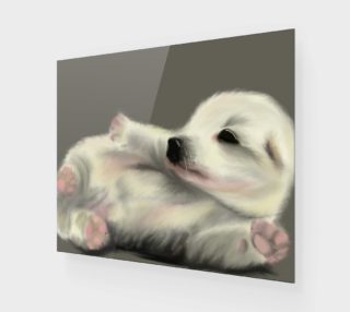 "Aperçu de Adorable Puppy Wall Art 24"" x 20"""