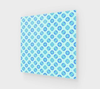 Retro Turquoise Blue Circles Pattern  preview