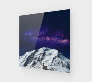 Snow + Galaxy Art Print preview