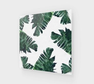 Banana Leaf Watercolor Pattern Poster preview