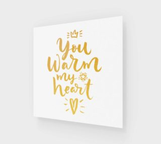 You Warm My Heart Gold Typography preview