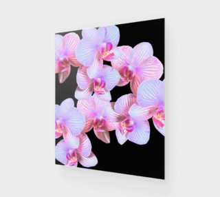 Nighttime Orchids 20in by 24in Wood Print preview