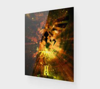 16x20 legend of zelda wood print preview