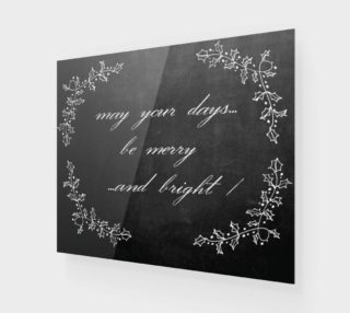 "Aperçu de Chalkboard: ""May Your Days Be Merry and Bright"""