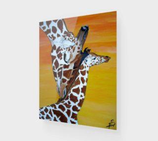 Aperçu de Mommy and Baby Giraffe 1